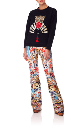 f031acbe14e FLARED PONTE TROUSER THE LONELY WILD (XL)