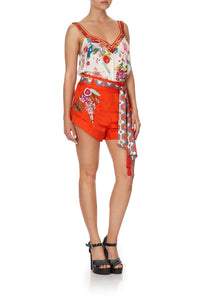 TIE DETAIL HIGH CUT SHORTS FARAWAY TREE