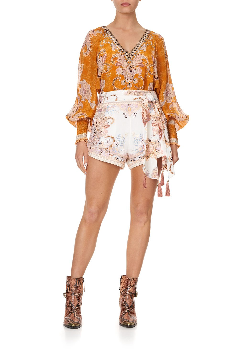 TIE DETAIL HIGH CUT SHORTS MARRAKESH MAIDEN