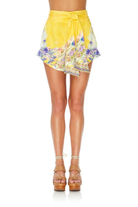 TIE DETAIL HIGH CUT SHORTS MELLOW MUSE