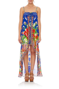 CAMILLA TIE DETAIL OVERLAY PLAYSUIT PLAYING KOI