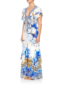 TIE FRONT MAXI WITH SPLIT SAINT GERMAINE