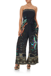 TIE WAIST STRAPLESS JUMPSUIT WISE WINGS