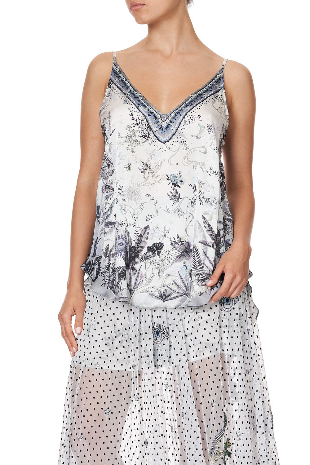 V NECK CAMI MOONLIT MUSINGS
