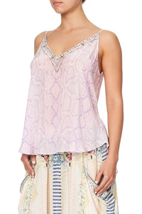 V NECK CAMI RAINBOW SANDS