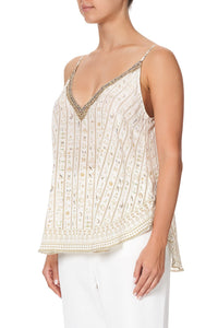 V NECK CAMI THE QUEENS CHAMBER
