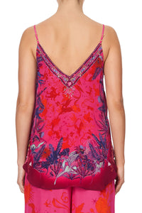 V NECK CAMI TROPIC OF NEON