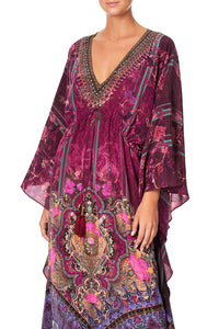 CAMILLA V-NECK KAFTAN WITH TIE WAIST DAUGHTER'S DESTINY