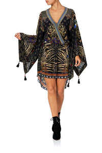 CAMILLA V NECK KIMONO DRESS WITH TIE THE NIGHT WE MET