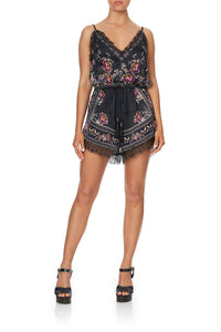 V-NECK LACE PLAYSUIT RESTLESS NIGHTS