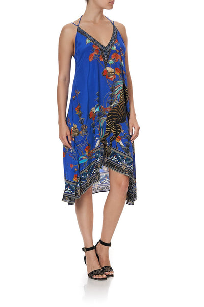 V-NECK STRAPPY FLARE DRESS TREE OF LIFE