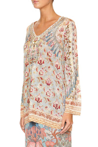 V NECK TUNIC JEANNE QUEEN