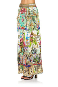 WIDE LEG PANT WITH GATHERED POCKETS CHAMPAGNE COAST
