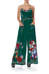 WIDE LEG PANT WITH GATHERED POCKETS EMERALD'S ORBIT