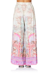 CAMILLA WIDE LEG TROUSER WITH FRONT POCKETS ELECTRON LIBRE