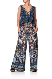 WIDE LEG TROUSER WITH FRONT POCKETS HOTEL BOHEME