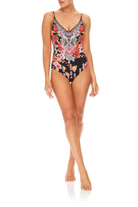 CAMILLA PAINTED LAND WIRED V-NECK ONE PIECE