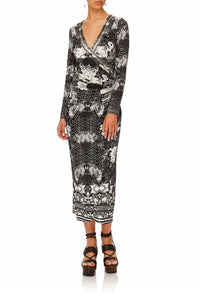 CAMILLA WILD MOONCHILD WRAP DRESS W TIE