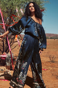 JUMPSUIT WITH BLOUSON SLEEVE WINGS IN ARMS
