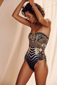 LACE UP BANDEAU ONE PIECE LOST PARADISE
