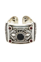 FOR THE LOVE OF LHASA SILV HINGED CUFF