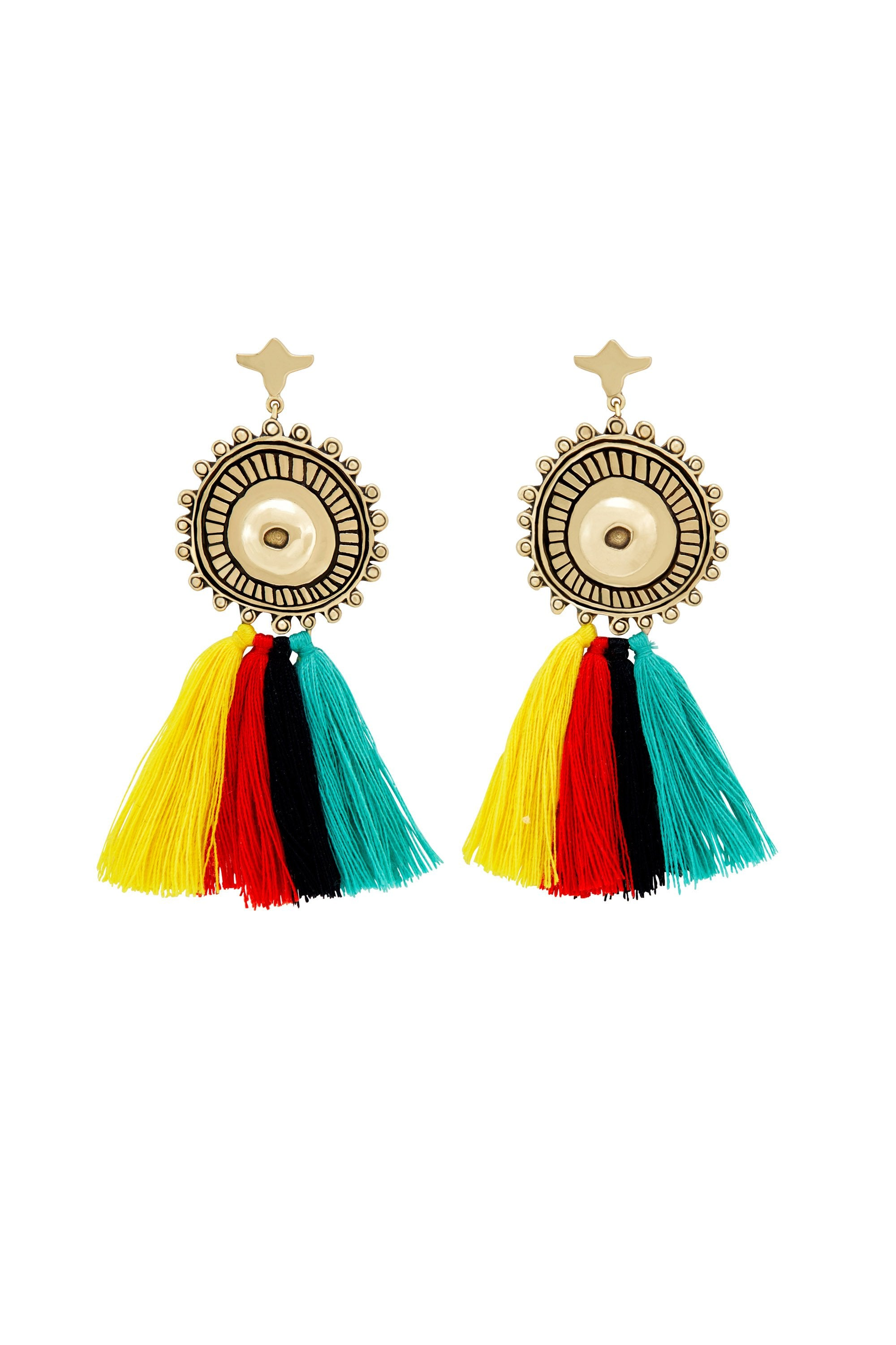 GOLD BRASS TUTTI FRUITTI EARRINGS