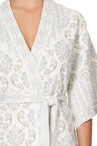 JACQUARD WRAP WITH SIDE SPLITS CRYSTAL CASTLE