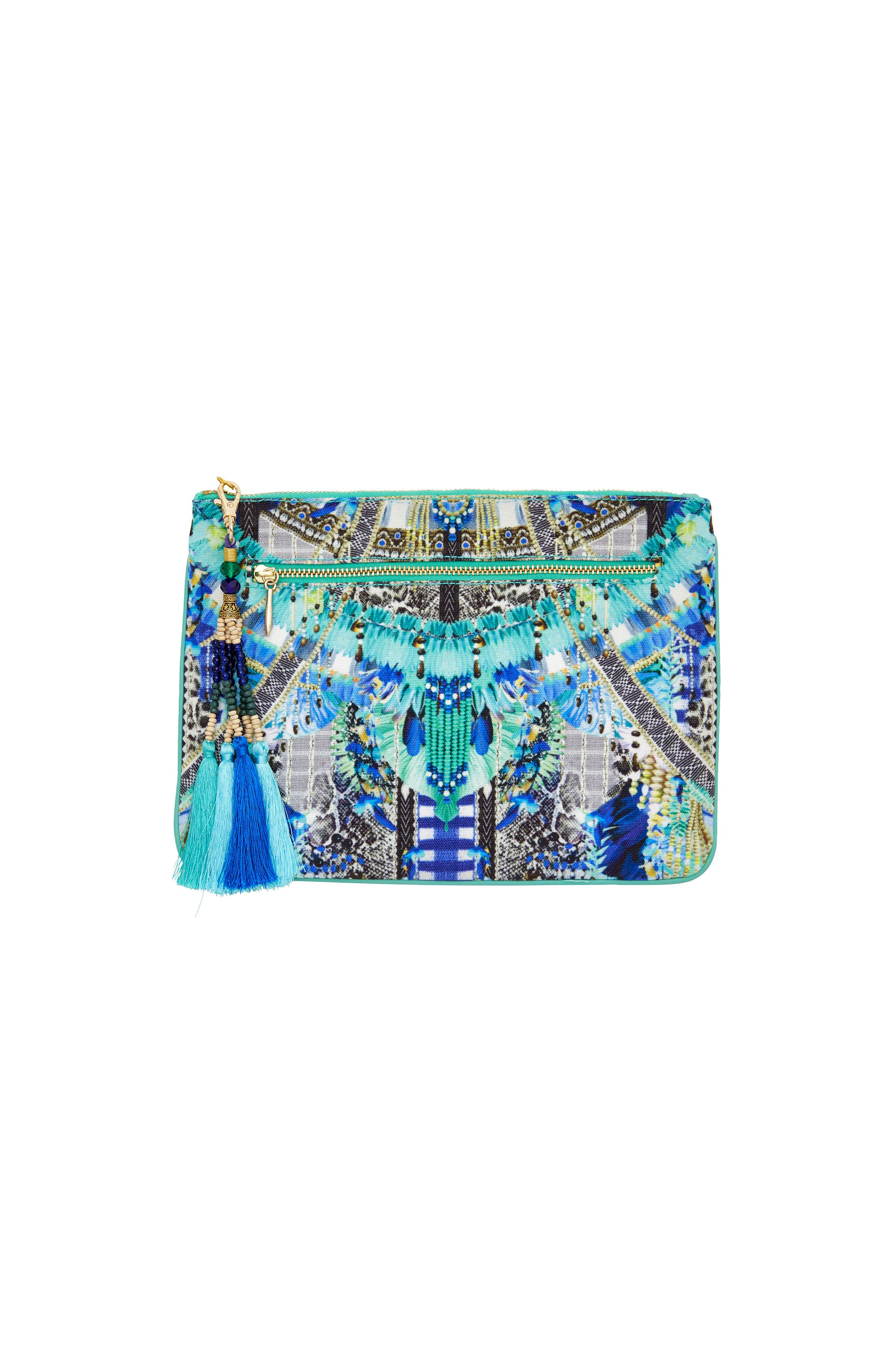 LEAVE ME WILD SMALL CANVAS CLUTCH