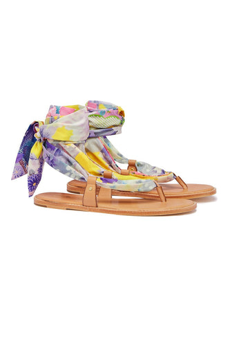 CAMILLA MELLOW MUSE FABRIC TIE SANDAL