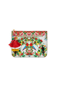 ONE FLEW OVER SMALL CANVAS CLUTCH