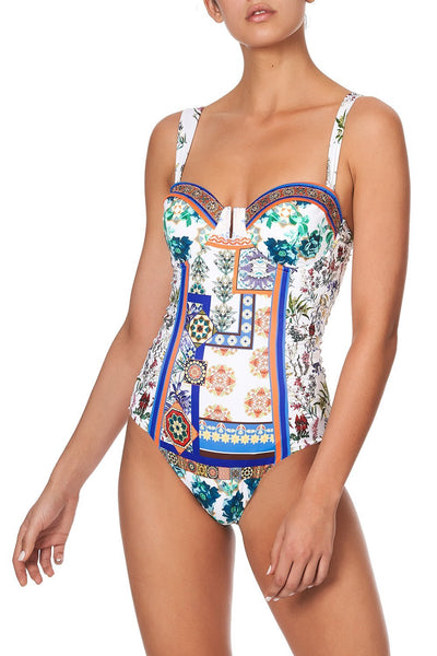 RUCHED BUSTIER ONE PIECE GONE COAST