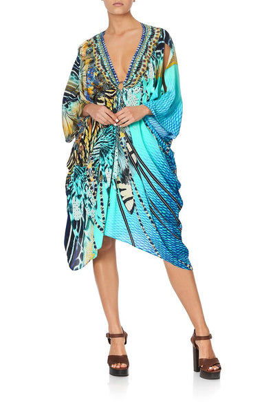 SHORT KAFTAN WITH HARDWARE MARINE QUEEN
