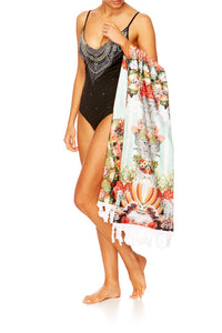 CAMILLA SLICE OF PARADISE RECTANGLE TOWEL W FRINGING