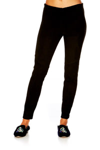 CHAMBER OF REFLECTIONS STRETCH LEATHER LEGGINGS
