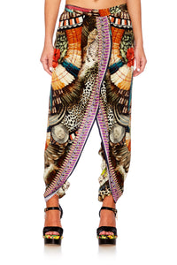 LIGHT MY FIRE GATHERED WRAP FRONT TROUSER