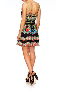 TOUCAN PLAY MINI BUTTON DOWN FRILL DRESS