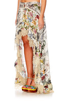 MEMORY LANE HIGH LOW HEM FULL SKIRT