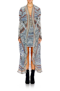 ANTIQUE BATIK LONG CASUAL JACKET