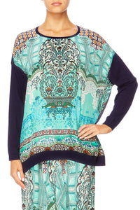 THE SPIRIT WITHIN JUMPER W CONTRAST FRONT