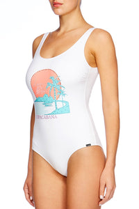 COPACABANA SCOOP NECK & BACK ONE PIECE