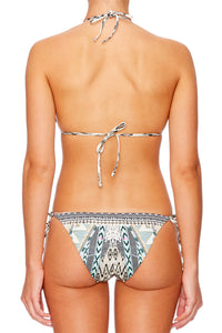 WEAVE ON TIE SIDE BIKINI W SHELLS