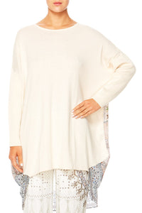 BREAKFAST WITH SILVIA LONG SLEEVE JUMPER W PRINTED BACK