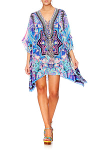 THREADS OF COSMOS SHORT LACE UP KAFTAN