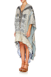 WEAVE ON OVERSIZED THROWOVER PONCHO