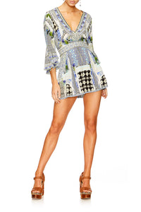 THE SWEET ESCAPE LOW V NECK PLAYSUIT