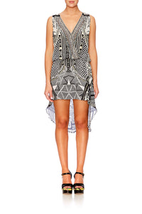 HANGING AROUND CROSS OVER FRONT DRESS