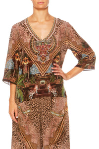 THE GYPSY LOUNGE V-NECK OVERSIZED BLOUSE