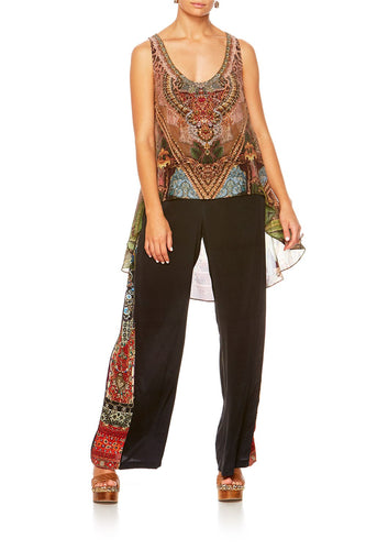 THE GYPSY LOUNGE LONG BACK SCOOP NECK SINGLET