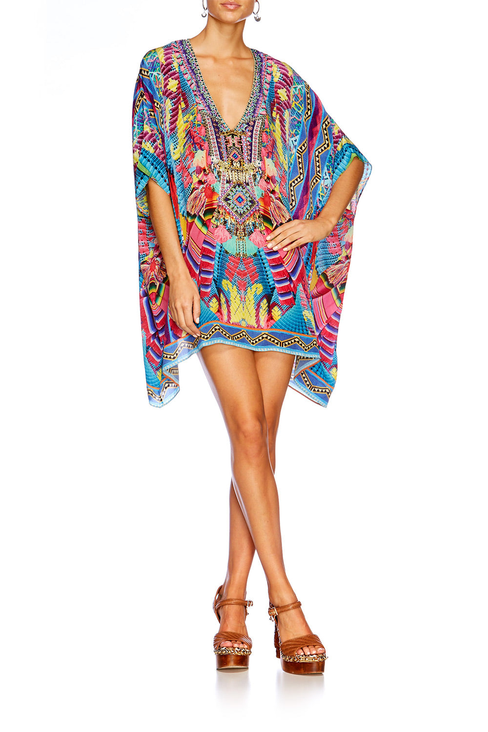 MS MOCHILLA RECTANGULAR V NECK KAFTAN