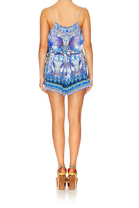 HEARTBEATS DRUMBEATS SHOESTRING STRAP PLAYSUIT